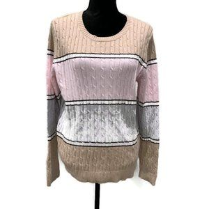 Croft & Barrow Large Scoop Neck knitted Sweater